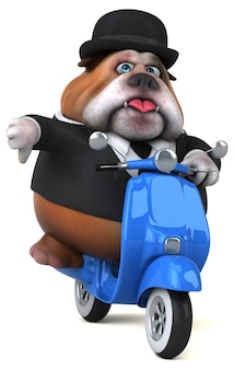 Bulldog amusant - illustration 3d