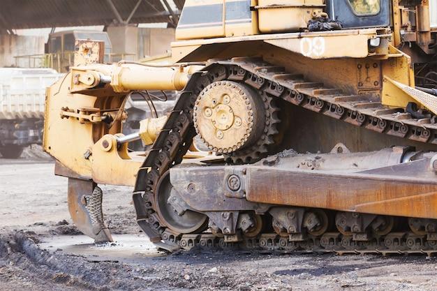 Bulldozer travaillant