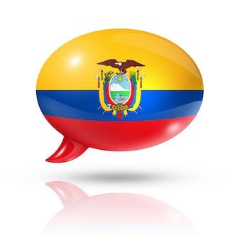 Bulle de dialogue drapeau équatorien