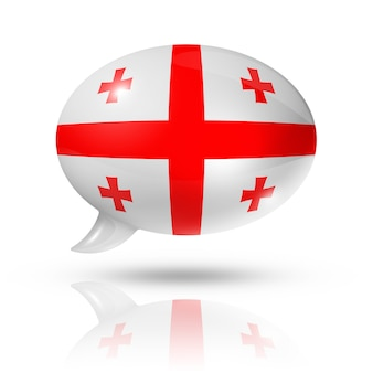 Bulle de dialogue drapeau géorgien