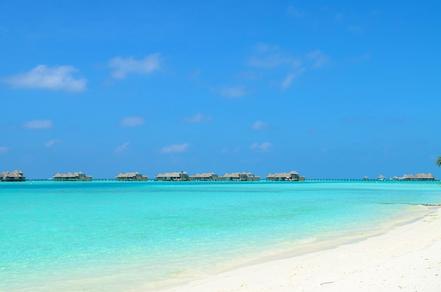 Bungalows resort aux maldives