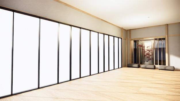 Bureau d'affaires - belle salle de réunion et table de conférence japanroom, style moderne. rendu 3d