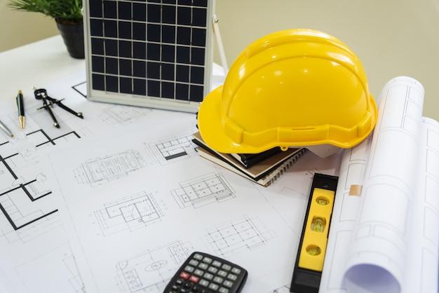 Bureau d'architectes solar energy powered home green pour réduire le réchauffement climatique.