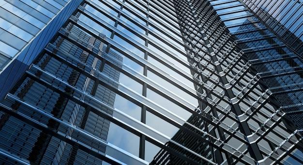 Bureau de bâtiment moderne et fond de ciel bleu