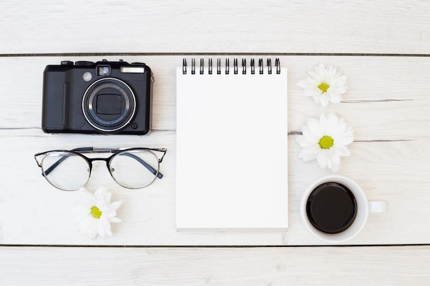 Bureau bureau avec objets