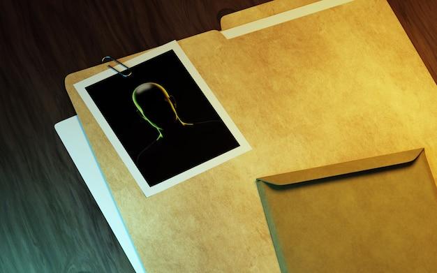 Bureau d'enquêteur privé. illustration 3d