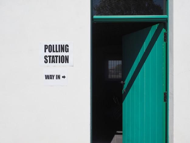 Bureau de vote des élections générales