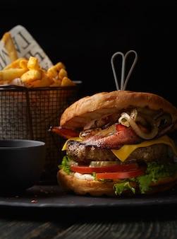 Burger aux frites