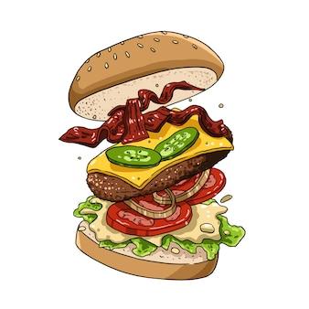 Burger flottant