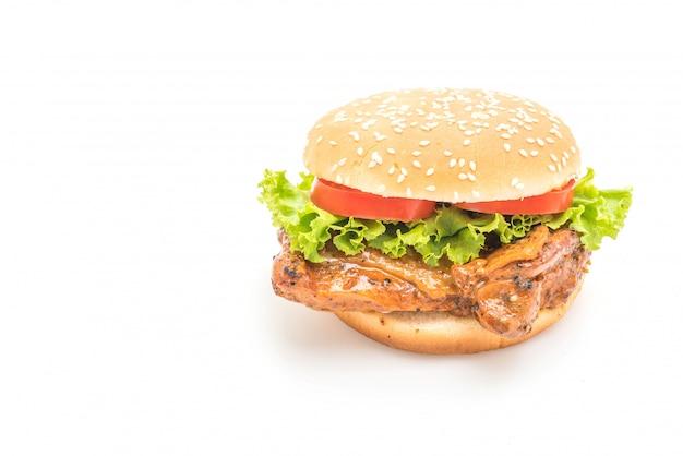 Burger de poulet grillé