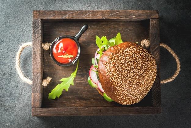 Burgers végétaliens sains