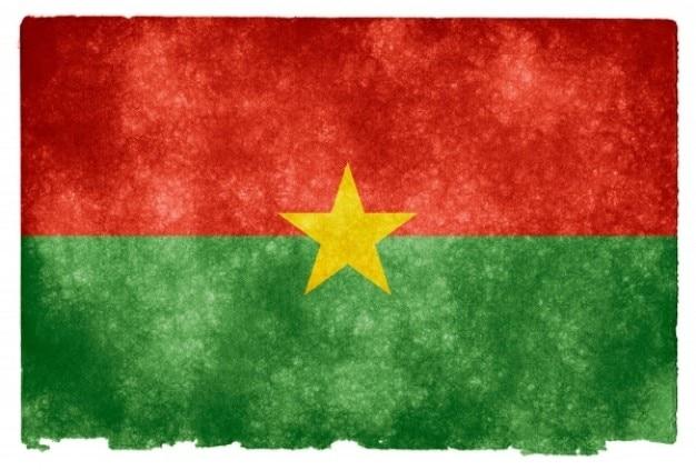 Burkina faso flag grunge