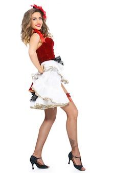 Burlesque. jolie danseuse sur talons