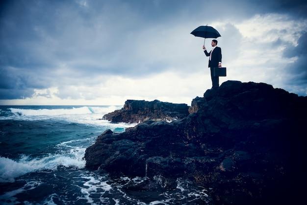 Business face à la tempête