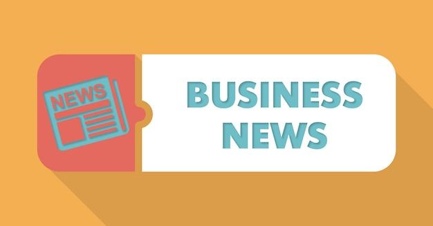 Business news concept au design plat avec de longues ombres.