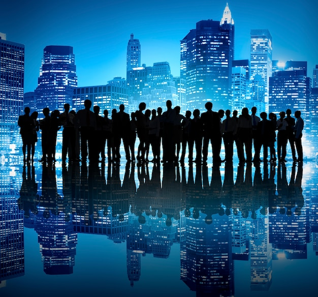 Business people corporate white collar travailleur city concept