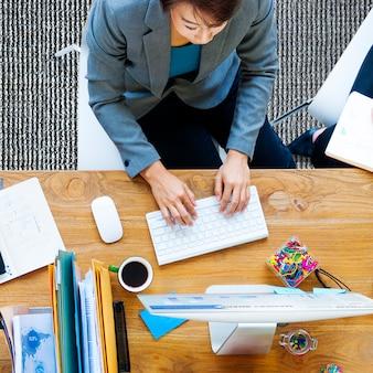 Business people technology concept de bureau de travail