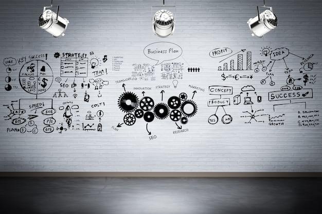 Business plan présentant sur scène