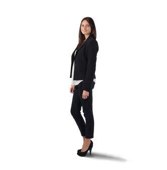 Businesswoman smiling arrive à la confiance en soi réussie