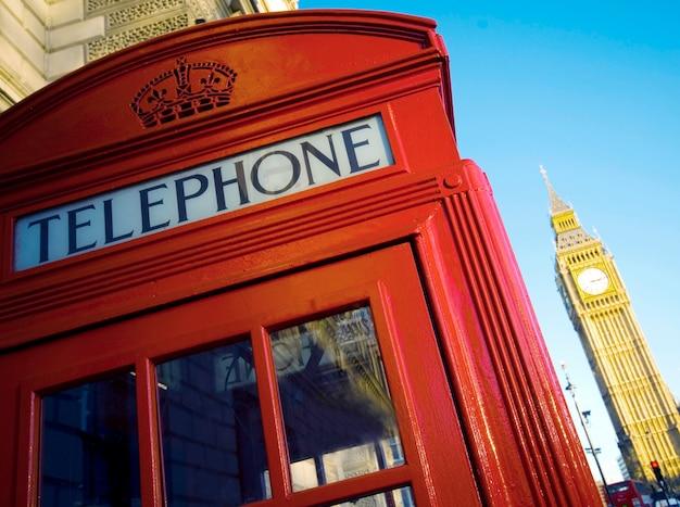 Cabine téléphonique rouge au royaume-uni