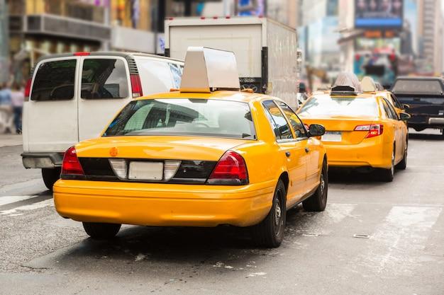 Cabines jaunes typiques à new york