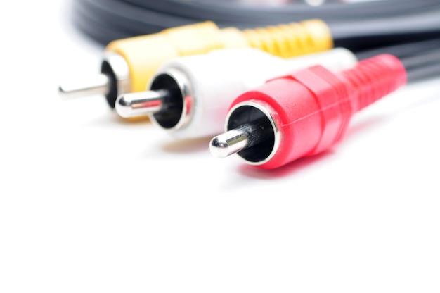 Câble audio vidéo analogique de la norme rca