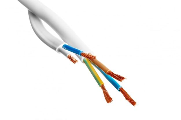 Câble blindé électrique avec de nombreux fils isolés