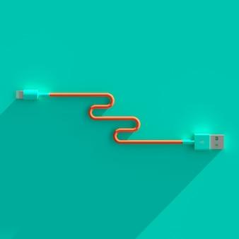 Câble de connexion usb plat