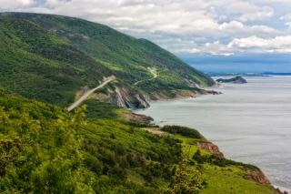 Cabot trail paysage hdr grand angle