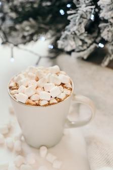 Cacao chaud à la guimauve, cannelle