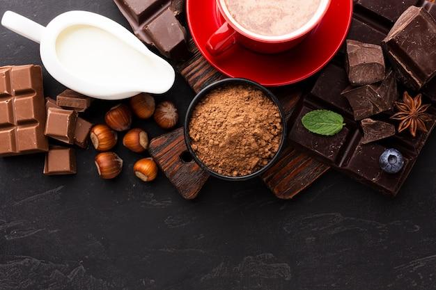 Cacao en poudre avec du lait