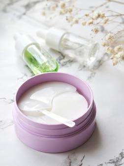 Cache-oeil hydrogel au beurre de karité, pour nourrir et adoucir la peau autour des yeux
