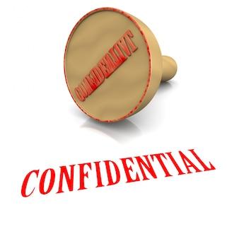 Cachet confidentiel