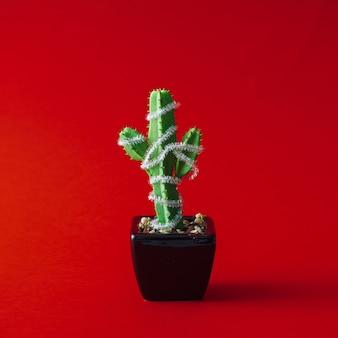 Cactus avec décoration d'arbre de noël.