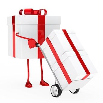 Cadeau d'animation en utilisant un chariot