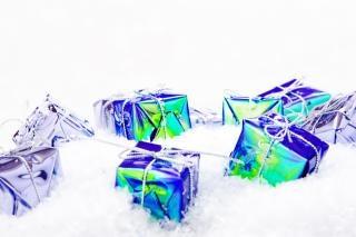 Cadeau dans la neige