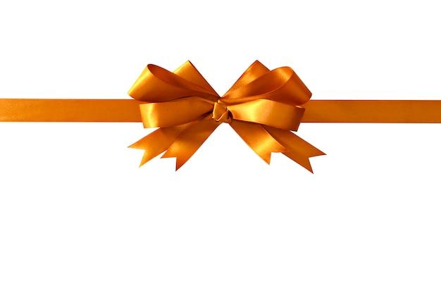 Cadeau d'or ruban arc