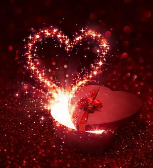 Cadeau de saint valentin - avec une surprise étincelante