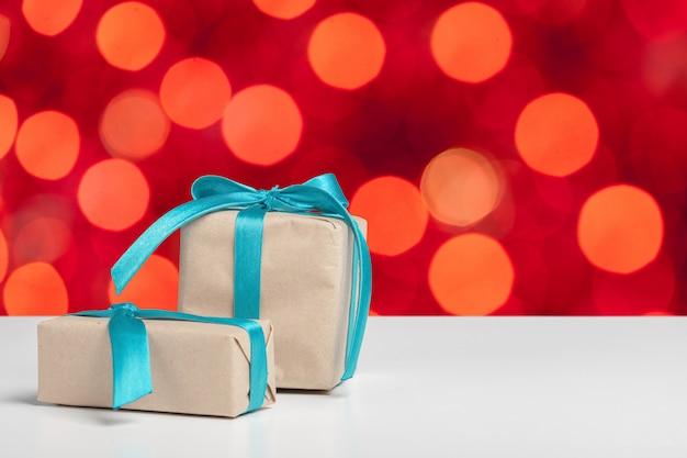 Cadeau sur la table