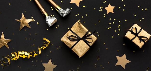 Cadeaux avec des confettis