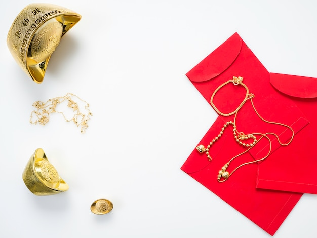 Cadeaux pour le nouvel an chinois, or
