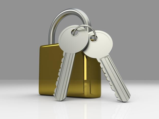 Cadenas avec clés