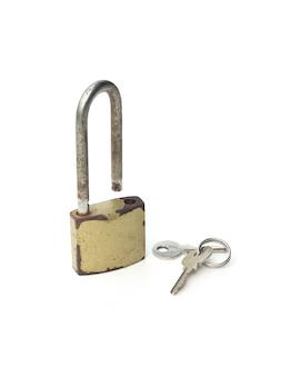 Cadenas en métal avec clés