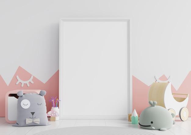 Cadre d'affiche dans la chambre d'enfant, chambre d'enfant, crèche