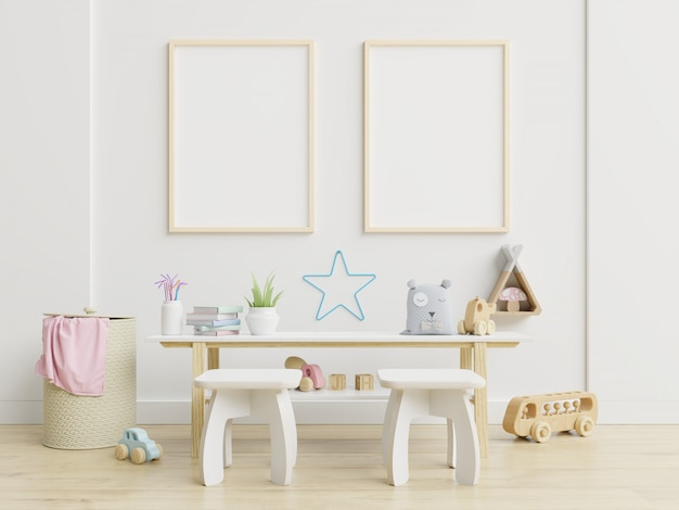 Cadre d'affiche dans la chambre d'enfants, chambre d'enfants, crèche.