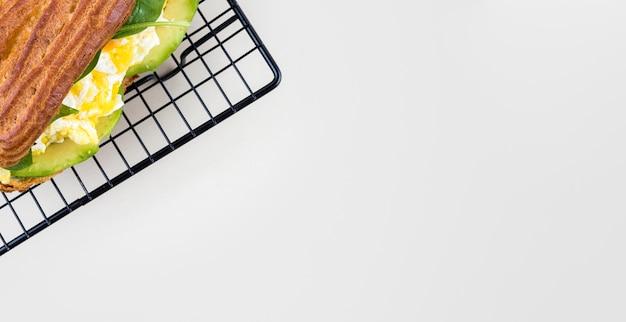 Cadre alimentaire plat avec copie-espace