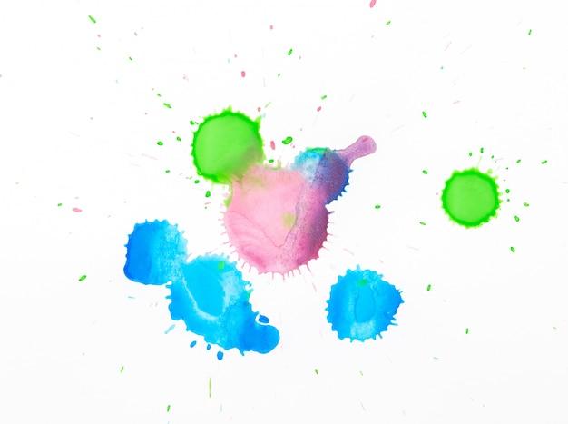 Cadre aquarelle art main peinture abstrait et fond ou fond d'écran