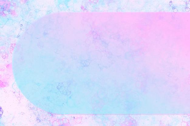 Cadre d'arc d'art de bulle dans l'art expérimental de bricolage bleu ombre