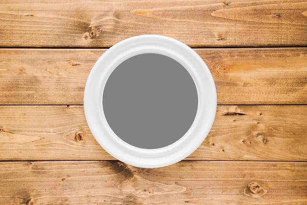 Cadre arrondi blanc avec espace vide