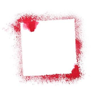 Cadre au pochoir rouge isolé sur fond blanc. illustration raster